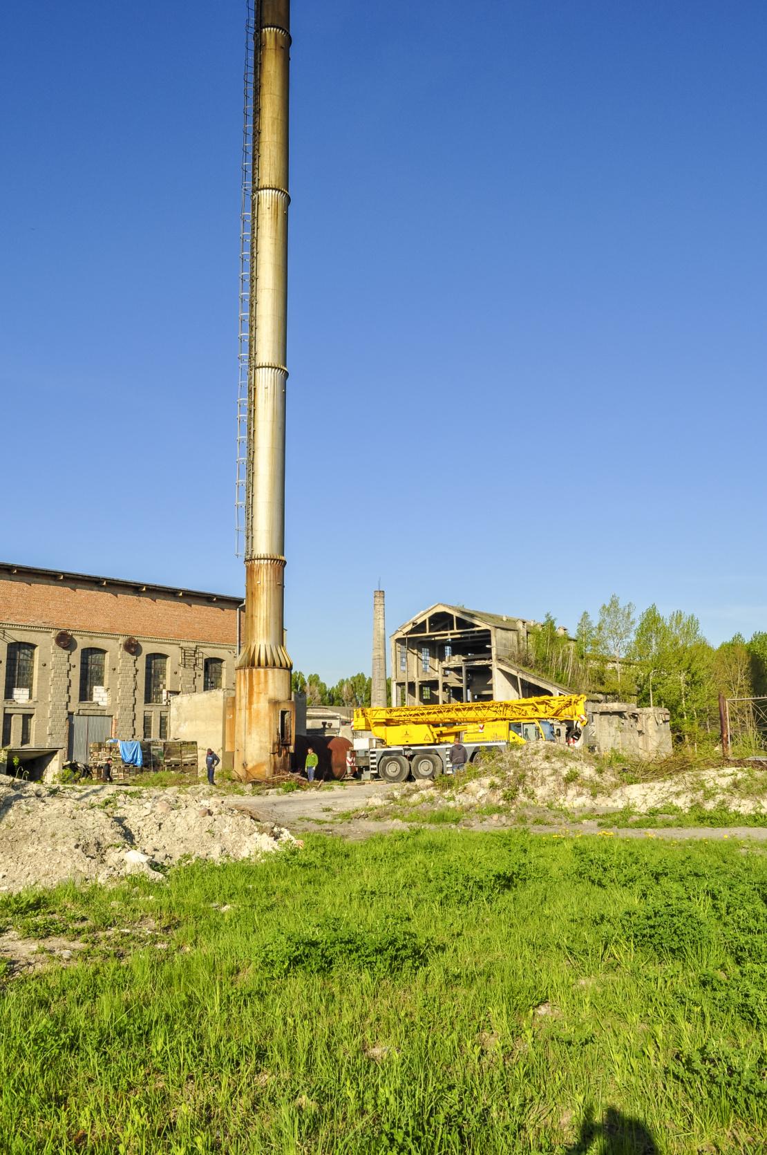 Rozbiórka komina stalowego