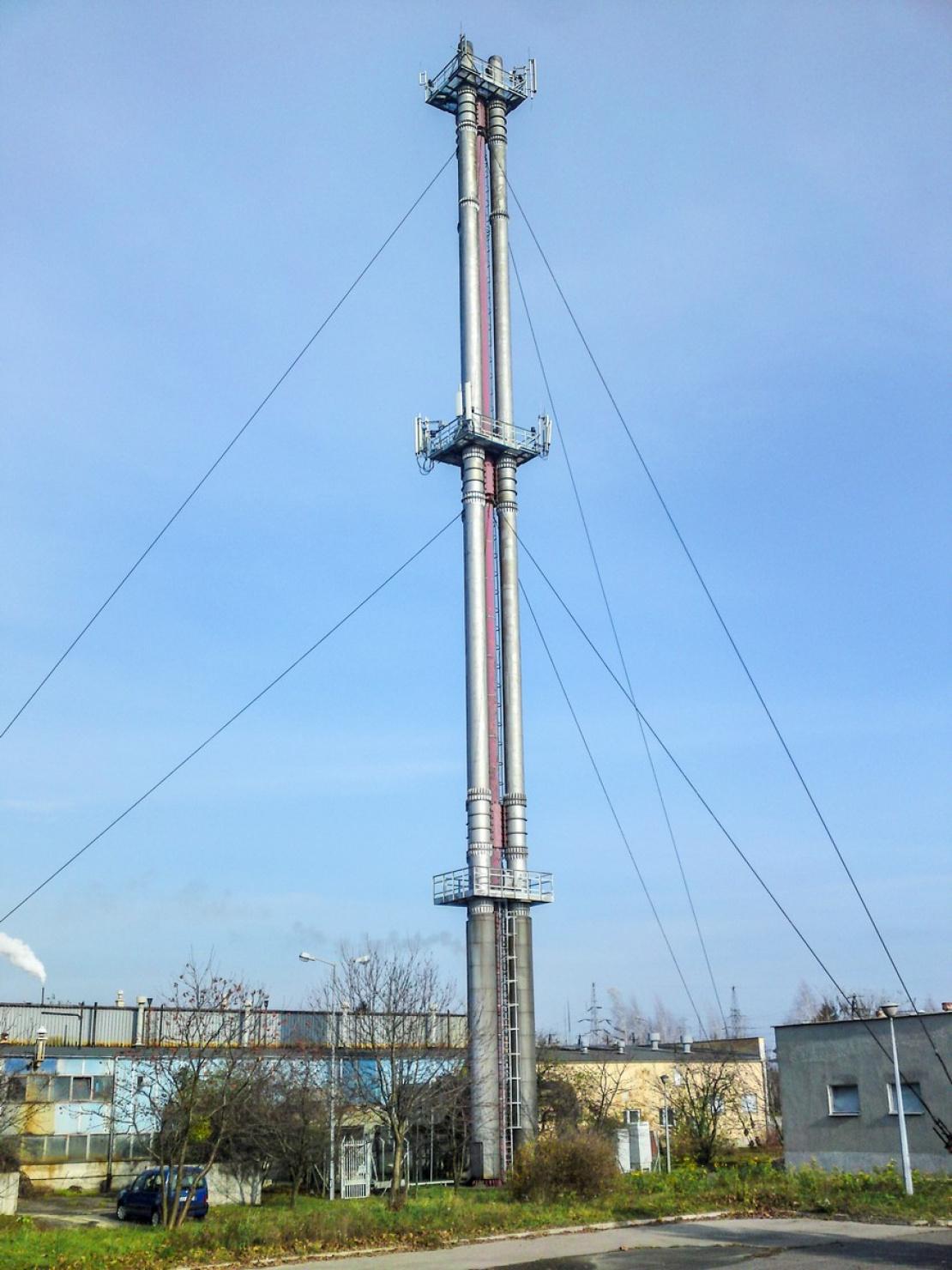 Zabezpieczenie antykorozyjne komina stalowego