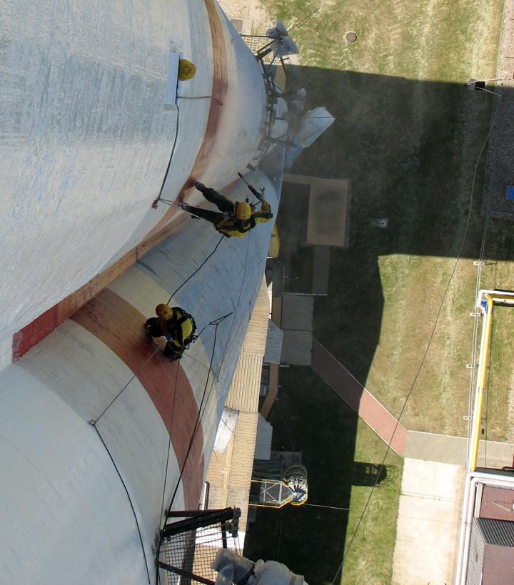 Remont komina żelbetowego h=150m.